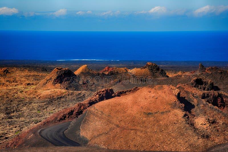 εθνικό timanfaya πάρκων Lanzarote στοκ φωτογραφία με δικαίωμα ελεύθερης χρήσης