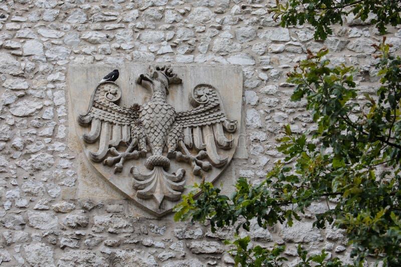 Εθνόσημο της Πολωνίας στην Κρακοβία στοκ φωτογραφία με δικαίωμα ελεύθερης χρήσης