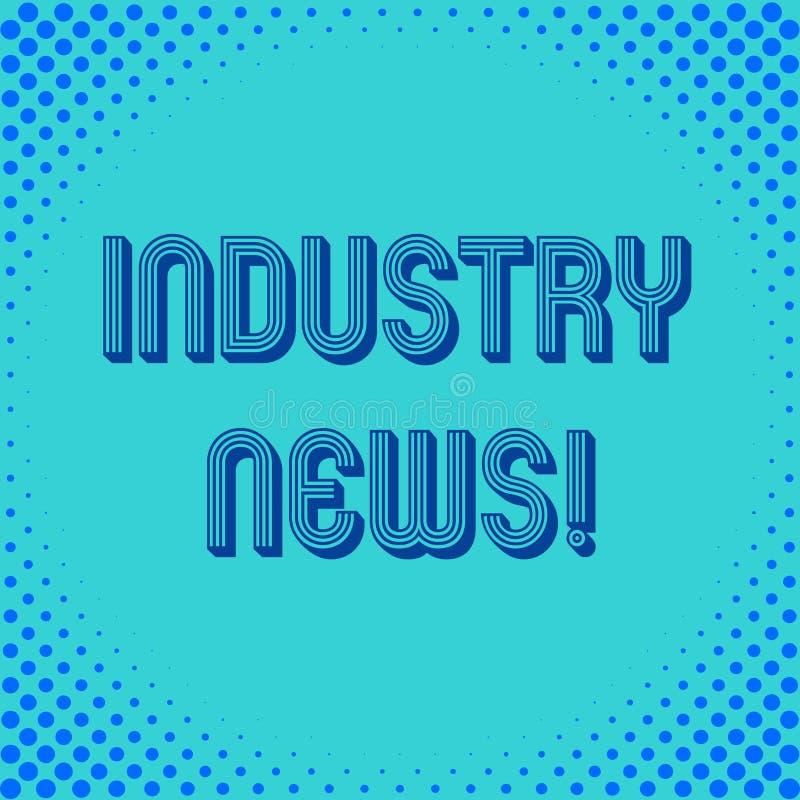 Ειδήσεις βιομηχανίας γραψίματος κειμένων γραφής Έννοια που σημαίνει παραδίδοντας τις ειδήσεις στο ευρύ κοινό ή μια δημόσια πλατεί ελεύθερη απεικόνιση δικαιώματος
