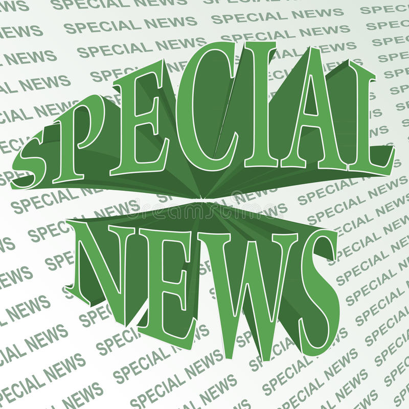 ειδήσεις ειδικές απεικόνιση αποθεμάτων