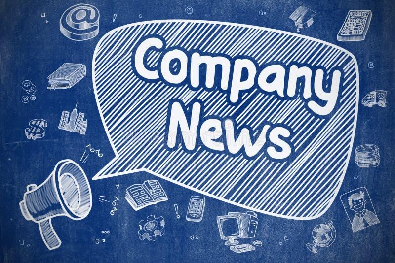 Ειδήσεις επιχείρησης - συρμένη χέρι απεικόνιση στον μπλε πίνακα κιμωλίας απεικόνιση αποθεμάτων