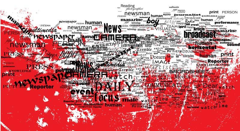 ειδήσεις ζωής διανυσματική απεικόνιση