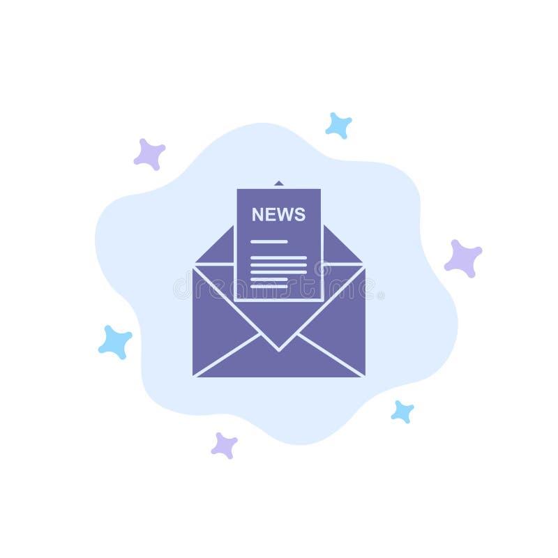 Ειδήσεις, ηλεκτρονικό ταχυδρομείο, επιχείρηση, αντιστοιχία, μπλε εικονίδιο επιστολών στο αφηρημένο υπόβαθρο σύννεφων ελεύθερη απεικόνιση δικαιώματος