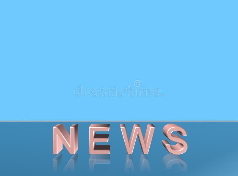 Ειδήσεις λέξης τυπογραφίας ελεύθερη απεικόνιση δικαιώματος