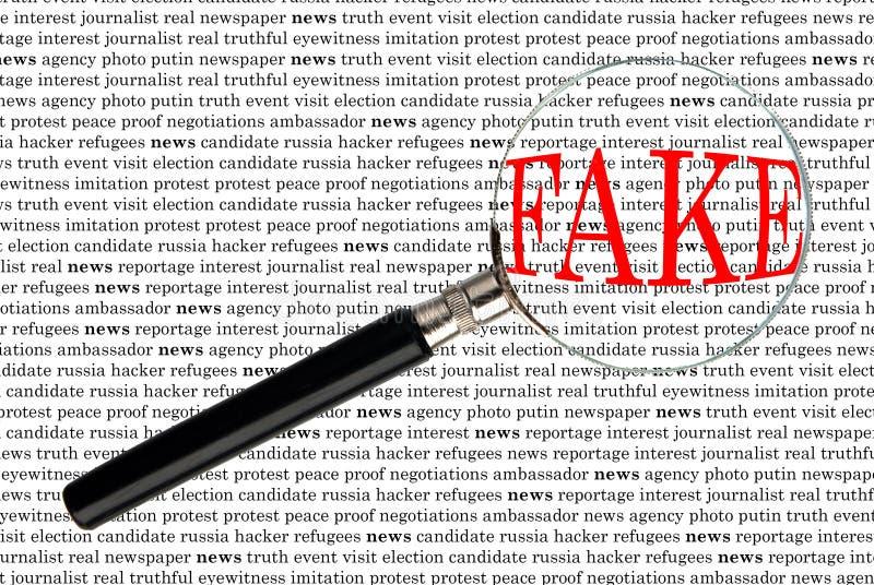 Ειδήσεις μέσω της ενίσχυσης - γυαλί στοκ εικόνα με δικαίωμα ελεύθερης χρήσης