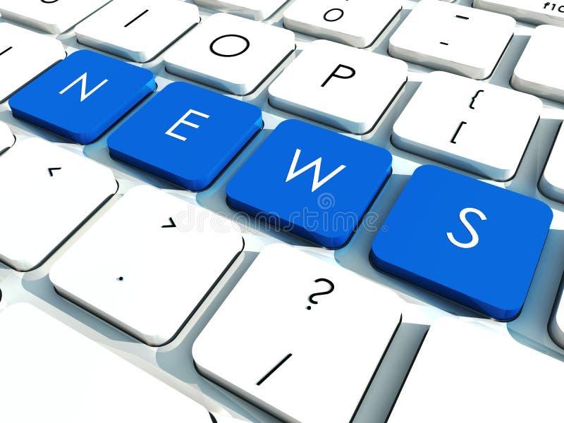 ειδήσεις πλήκτρων απεικόνιση αποθεμάτων
