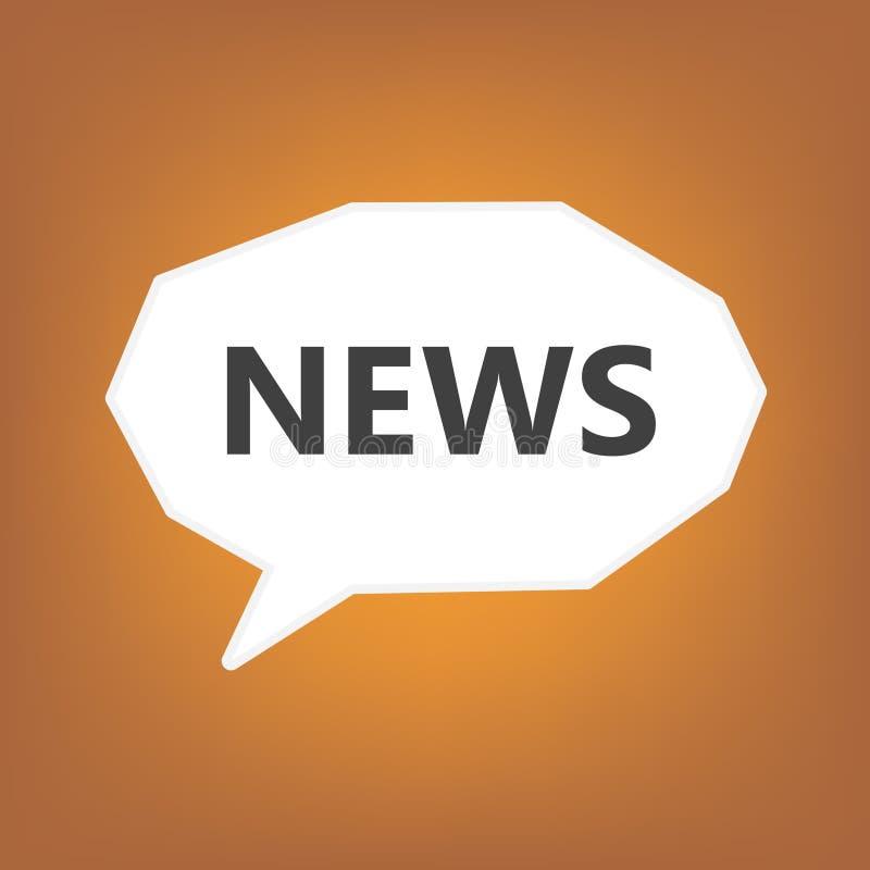 Ειδήσεις που γράφονται στη λεκτική φυσαλίδα ελεύθερη απεικόνιση δικαιώματος