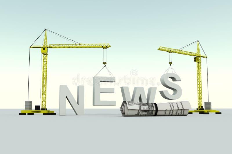 Ειδήσεις που χτίζουν την έννοια διανυσματική απεικόνιση