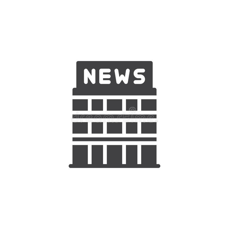 Ειδήσεις που χτίζουν το διανυσματικό εικονίδιο ελεύθερη απεικόνιση δικαιώματος