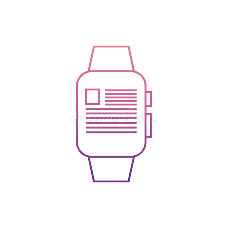 ειδήσεις στο έξυπνο watchesicon στο ύφος του Nolan Ένα από το εικονίδιο συλλογής Ιστού μπορεί να χρησιμοποιηθεί για UI, UX διανυσματική απεικόνιση