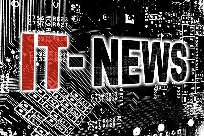 Ειδήσεις ΤΠ με την έννοια πινάκων κυκλωμάτων ελεύθερη απεικόνιση δικαιώματος