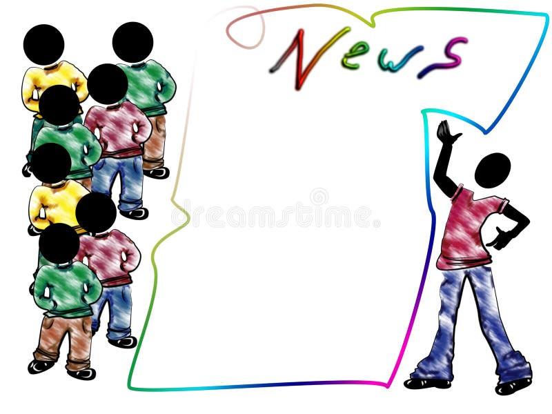 ειδήσεις χαρτονιών απεικόνιση αποθεμάτων