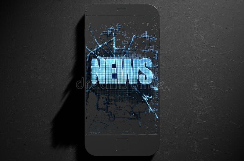 Ειδήσεις Cloner Smartphone διανυσματική απεικόνιση