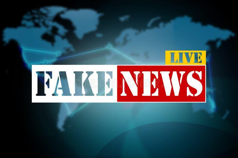 Ειδήσεις Fakel στο υπόβαθρο παγκόσμιων χαρτών ελεύθερη απεικόνιση δικαιώματος