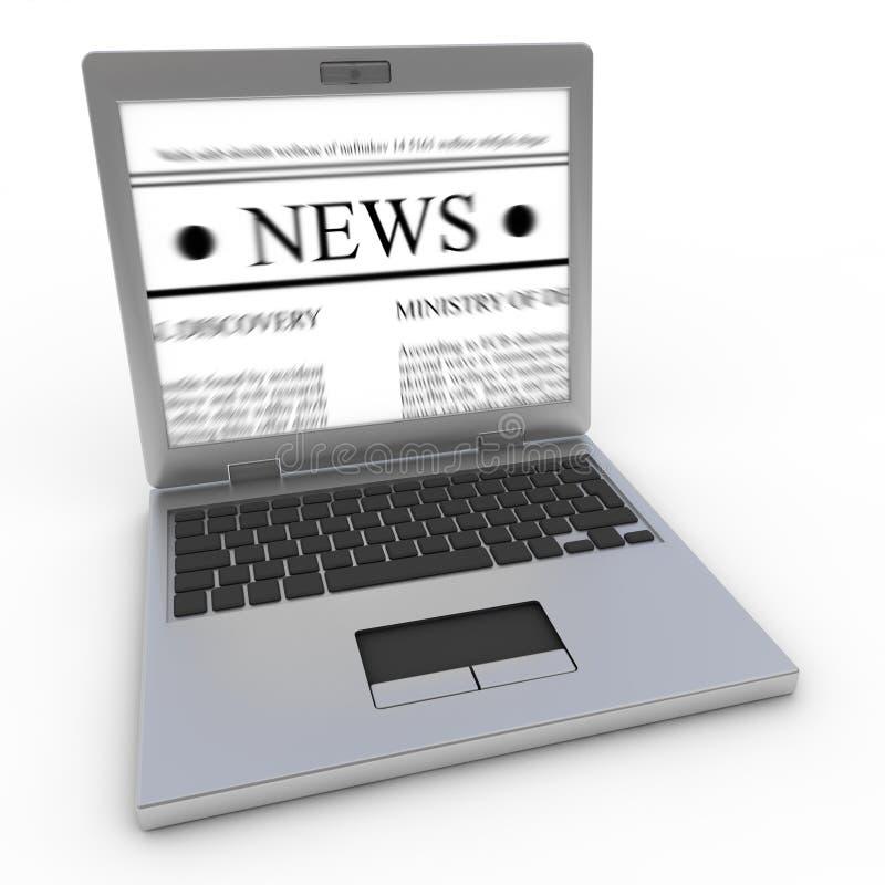 ειδήσεις lap-top ελεύθερη απεικόνιση δικαιώματος