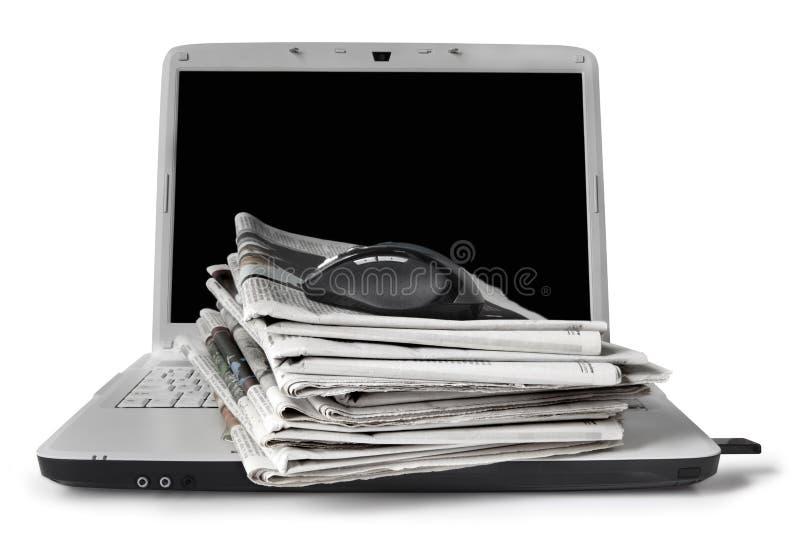 ειδήσεις on-line στοκ φωτογραφία με δικαίωμα ελεύθερης χρήσης
