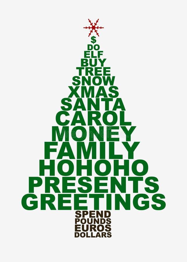 ειδικά Χριστούγεννα δέντρων διανυσματική απεικόνιση