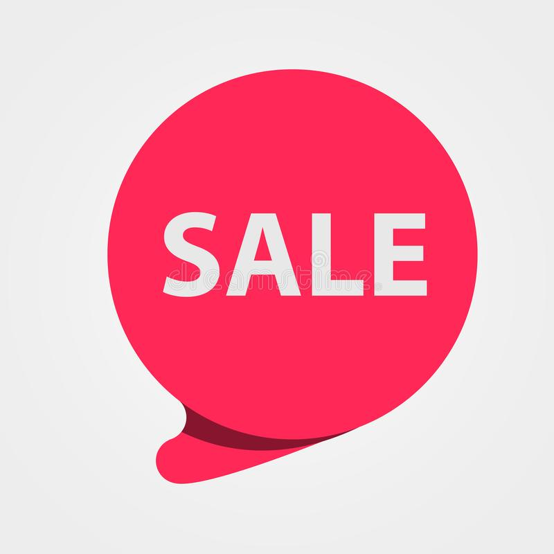 Ειδική κόκκινη ετικέττα πώλησης προσφοράς Έκπτωση, ετικέτα τιμών προσφοράς, σύμβολο για τη διαφημιστική καμπάνια ελεύθερη απεικόνιση δικαιώματος
