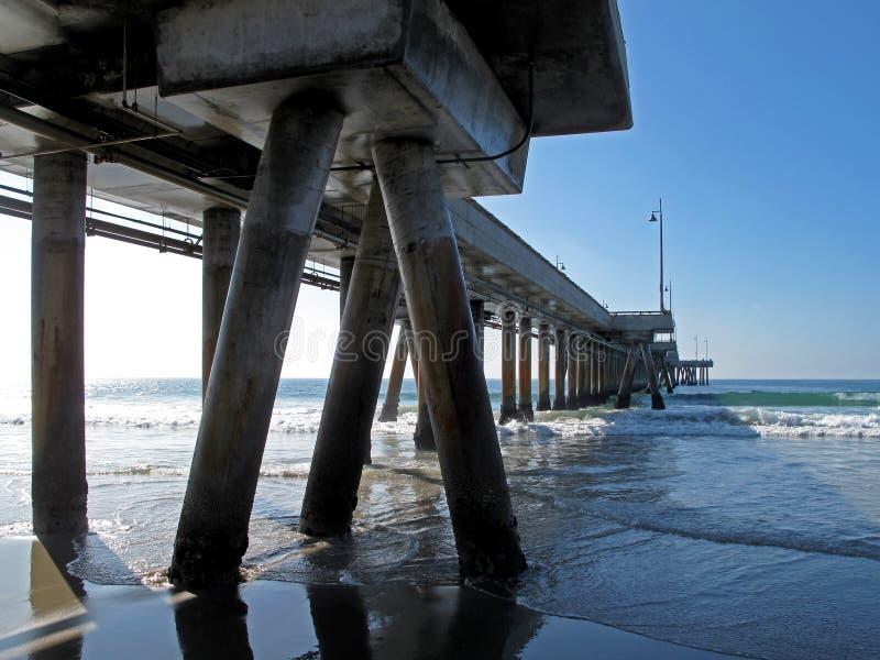 Ειδική προοπτική της αποβάθρας της Βενετίας στην παραλία της Βενετίας, Καλιφόρνια στοκ φωτογραφία με δικαίωμα ελεύθερης χρήσης