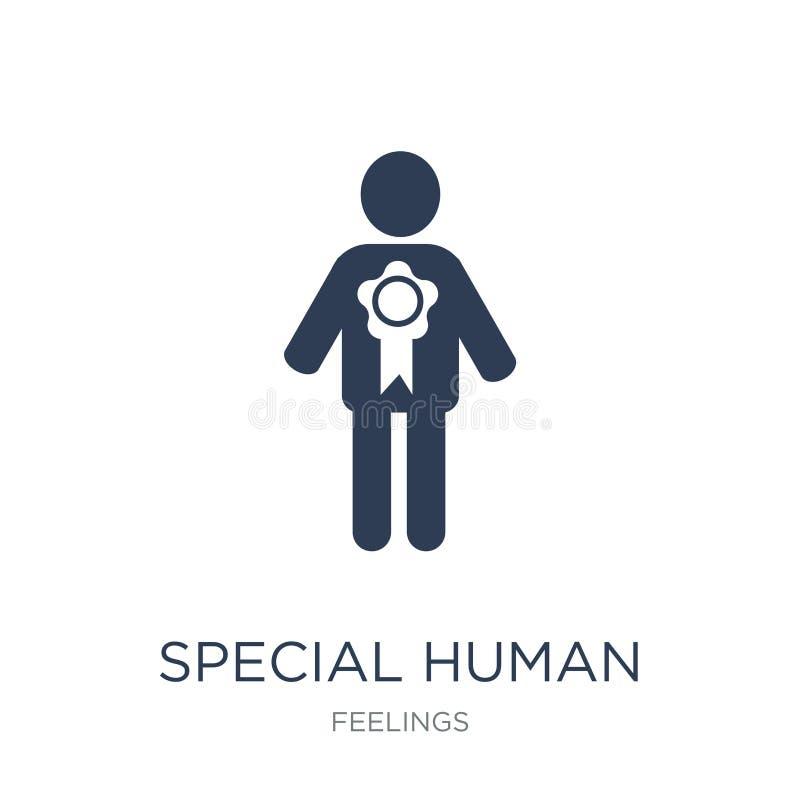 ειδικό ανθρώπινο εικονίδιο Καθιερώνον τη μόδα επίπεδο διανυσματικό ειδικό ανθρώπινο εικονίδιο στο whi απεικόνιση αποθεμάτων