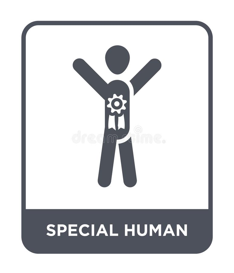 ειδικό ανθρώπινο εικονίδιο στο καθιερώνον τη μόδα ύφος σχεδίου ειδικό ανθρώπινο εικονίδιο που απομονώνεται στο άσπρο υπόβαθρο ειδ απεικόνιση αποθεμάτων