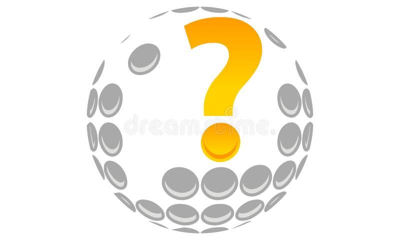 Ειδικό πρότυπο γκολφ διανυσματική απεικόνιση