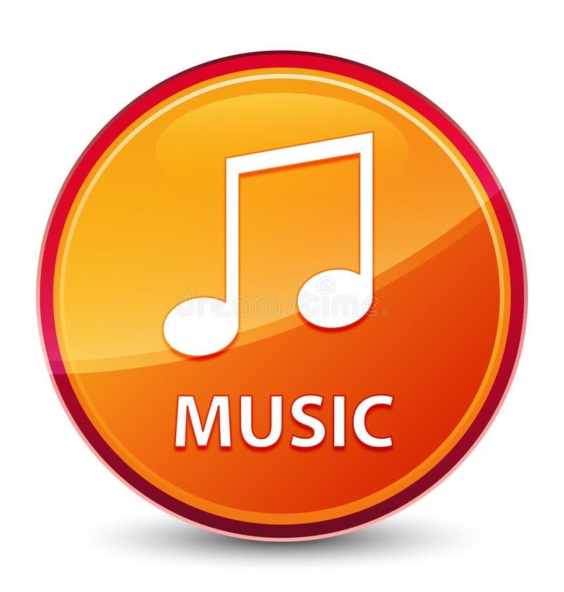 Ειδικό υαλώδες πορτοκαλί στρογγυλό κουμπί μουσικής (εικονίδιο τόνου) ελεύθερη απεικόνιση δικαιώματος