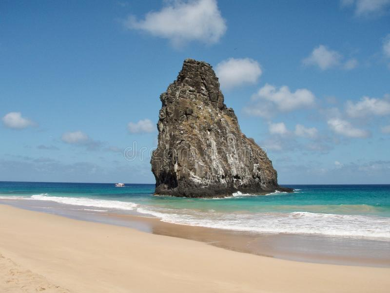 Ειδυλλιακή παραλία στο Fernando de Noronha, Βραζιλία στοκ εικόνες