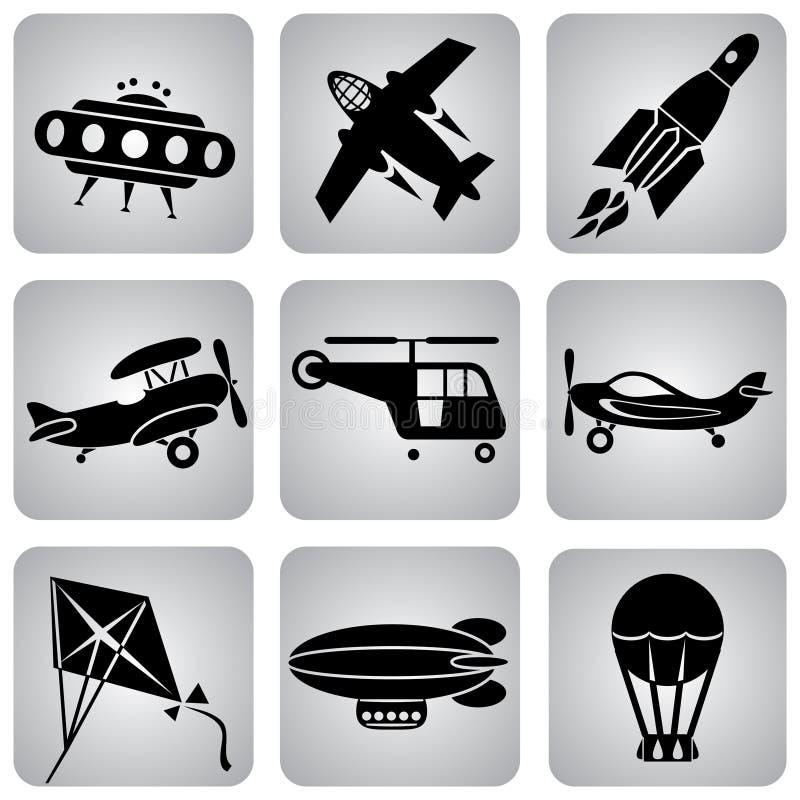 εικονίδια αέρα απεικόνιση αποθεμάτων