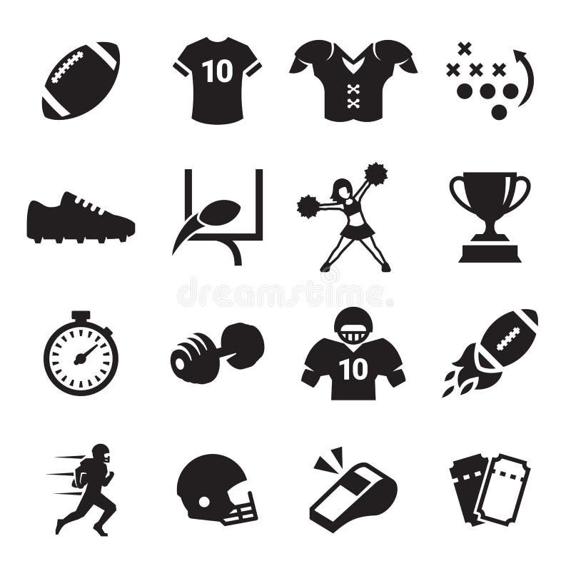 Εικονίδια αμερικανικού ποδοσφαίρου ελεύθερη απεικόνιση δικαιώματος