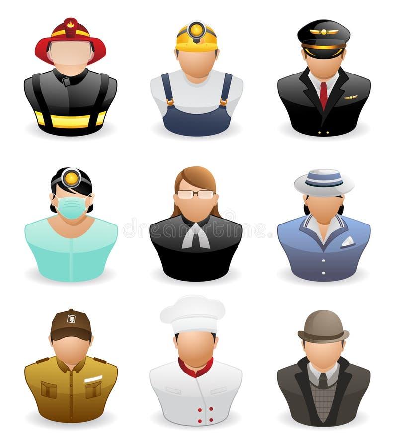 Εικονίδια ανθρώπων ειδώλων: Επάγγελμα # 3 ελεύθερη απεικόνιση δικαιώματος
