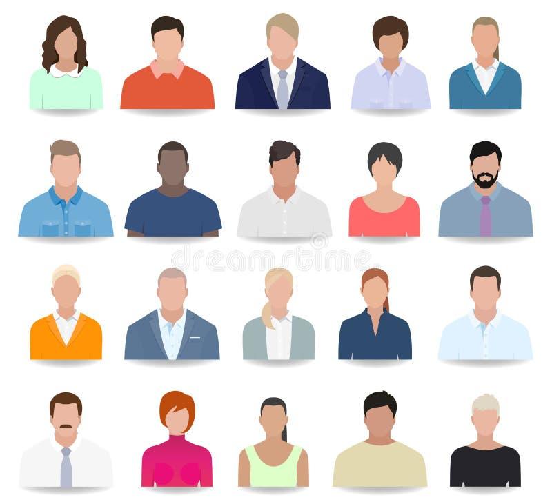 Εικονίδια ανθρώπων, επιχείρηση, διάνυσμα διανυσματική απεικόνιση