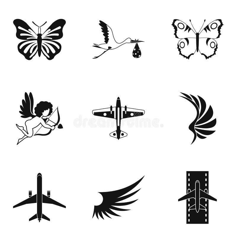 Εικονίδια ανόδου καθορισμένα, απλό ύφος ελεύθερη απεικόνιση δικαιώματος