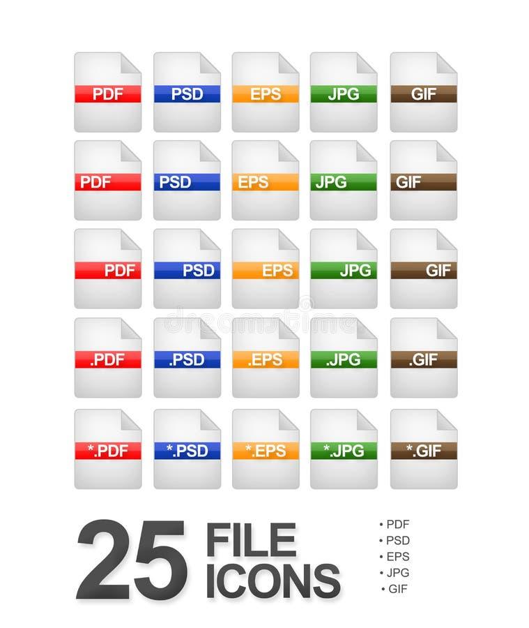 εικονίδια αρχείων εγγράφ διανυσματική απεικόνιση