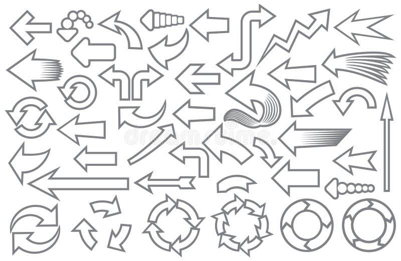 εικονίδια βελών που τίθενται ελεύθερη απεικόνιση δικαιώματος