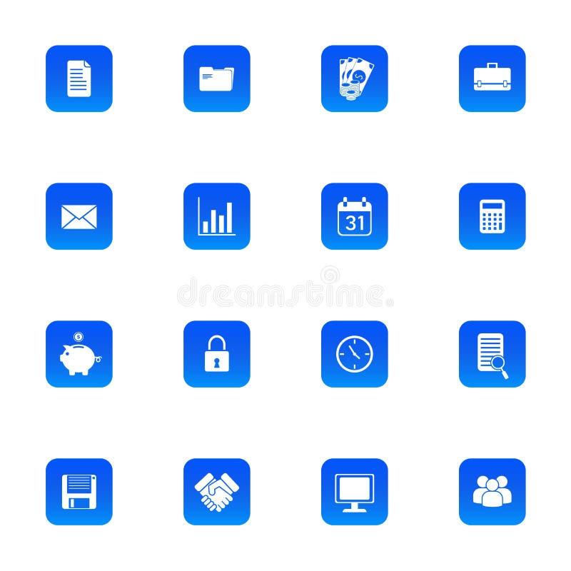 Εικονίδια για την επιχείρηση, τη χρηματοδότηση και τις χρησιμότητες στοκ εικόνες με δικαίωμα ελεύθερης χρήσης