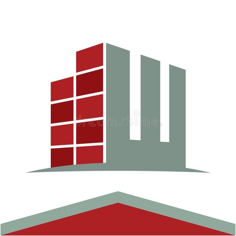 Εικονίδια για το επιχειρησιακό λογότυπο κατασκευής με το γράμμα W αρχικών ελεύθερη απεικόνιση δικαιώματος