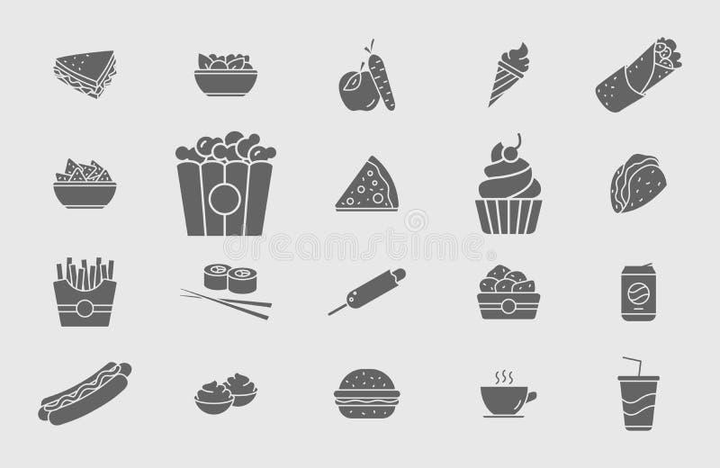 Εικονίδια γρήγορης τροφής 05 απεικόνιση αποθεμάτων