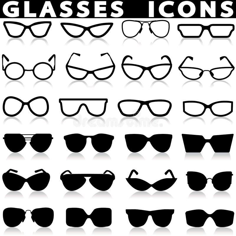 εικονίδια γυαλιών ματιών &p διανυσματική απεικόνιση