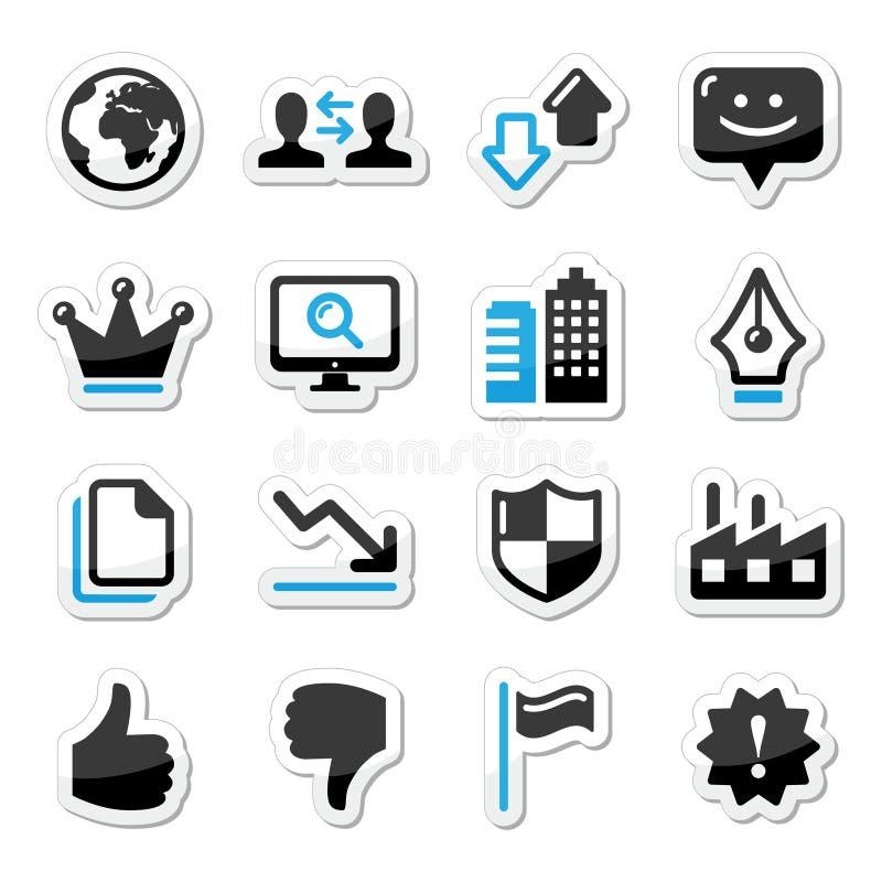 Εικονίδια Διαδικτύου Ιστού που τίθενται -   απεικόνιση αποθεμάτων
