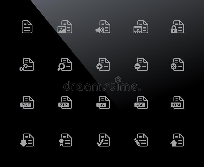 Εικονίδια εγγράφων - σύνολο 1 2 σειρών του //32px ελεύθερη απεικόνιση δικαιώματος