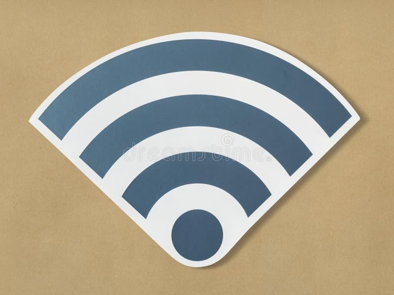 Εικονίδια ενός ισχυρού σήματος του wifi στοκ εικόνα