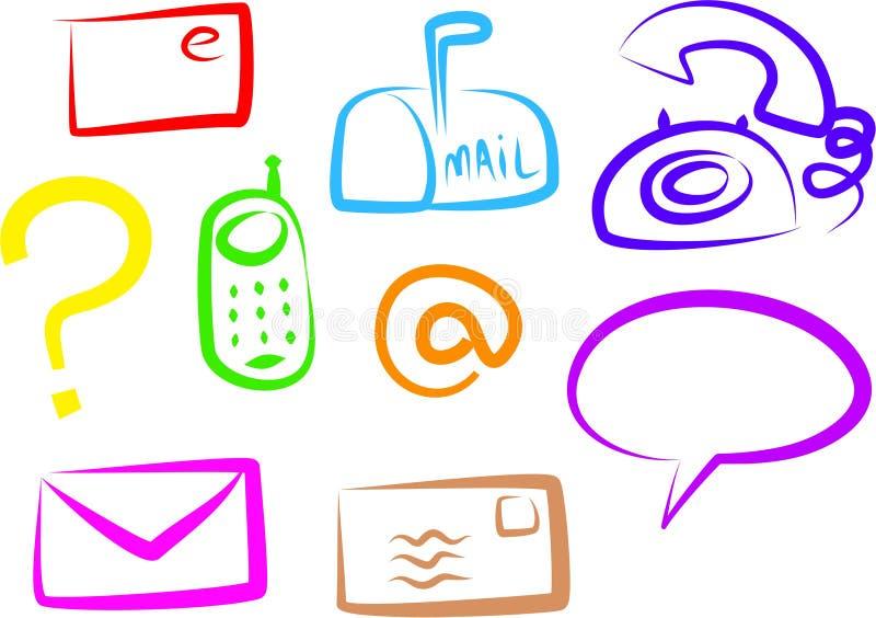 εικονίδια επικοινωνίας διανυσματική απεικόνιση