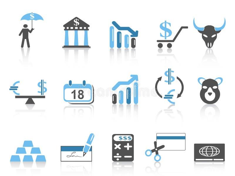Εικονίδια επιχειρήσεων και χρηματοδότησης που τίθενται διανυσματική απεικόνιση