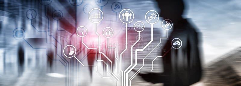 Εικονίδια επιχειρηματικών εφαρμογών στο θολωμένο υπόβαθρο Οικονομικός και κάνοντας εμπόριο Έννοια τεχνολογίας Διαδικτύου στοκ φωτογραφία με δικαίωμα ελεύθερης χρήσης