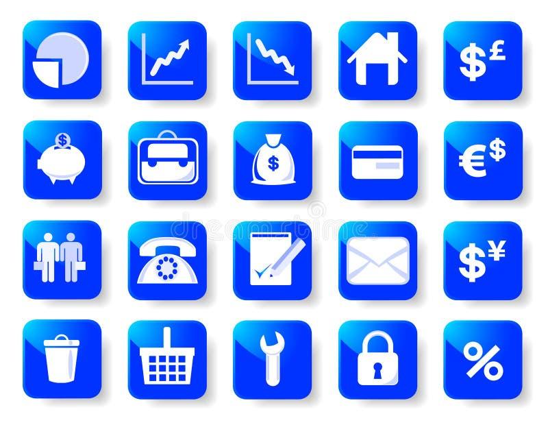 εικονίδια επιχειρησιακής χρηματοδότησης στοκ εικόνα