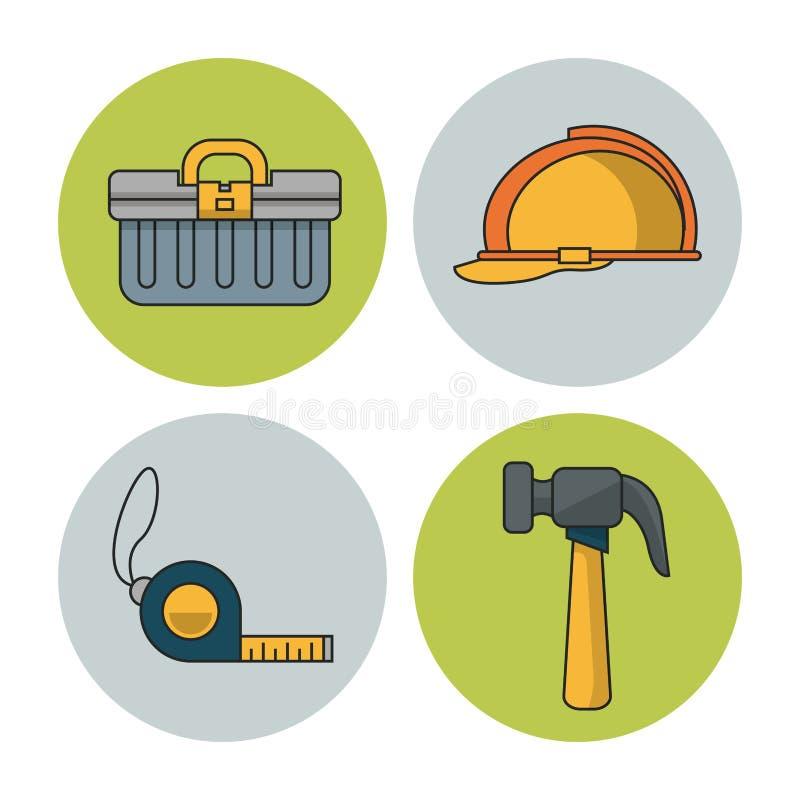 Εικονίδια εργαλείων κατασκευής απεικόνιση αποθεμάτων