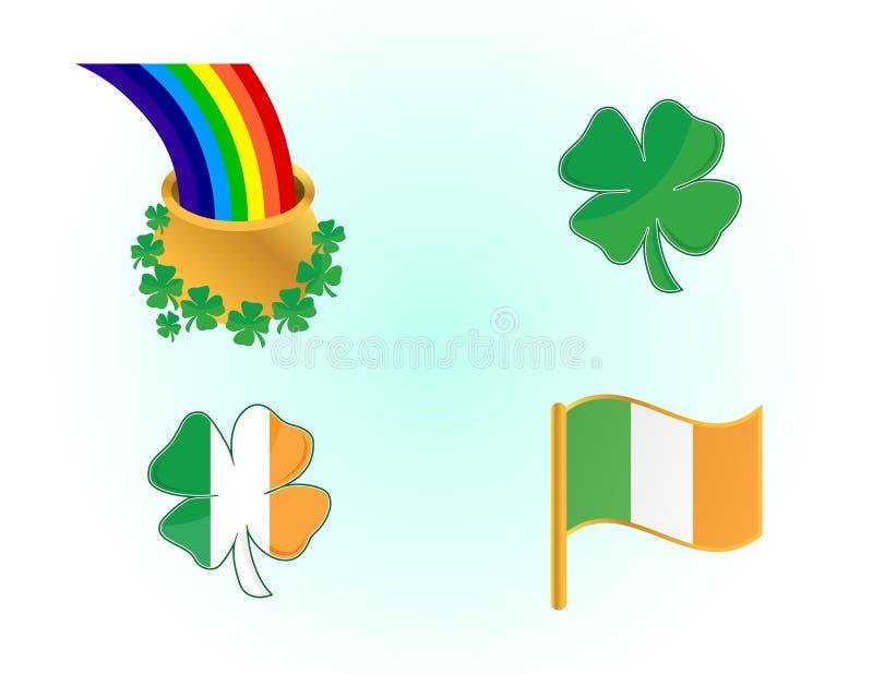 εικονίδια ιρλανδικά διανυσματική απεικόνιση