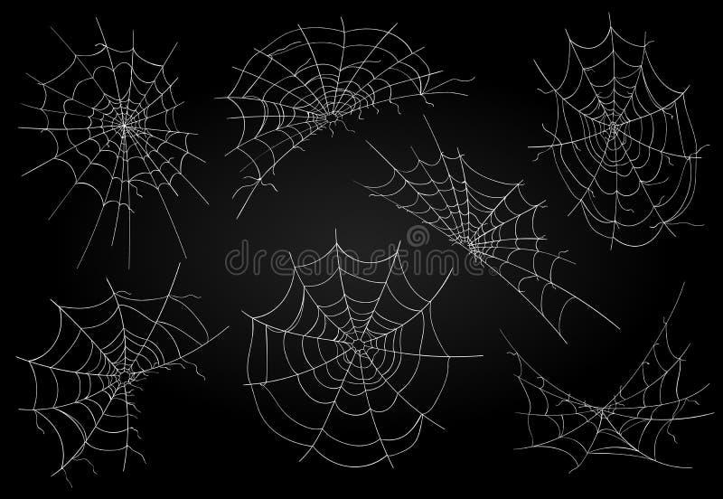 Εικονίδια ιστών αράχνης καθορισμένα ελεύθερη απεικόνιση δικαιώματος