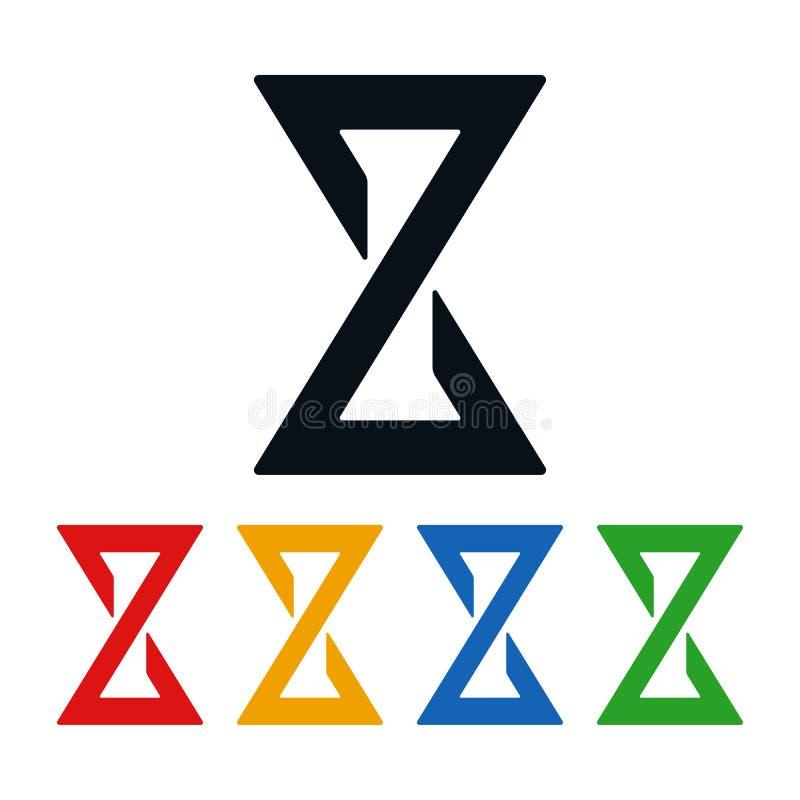 Εικονίδια κλεψυδρών, διαμορφωμένα σύμβολα δεσμών τόξων διανυσματική απεικόνιση